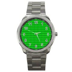 St  Patricks Day Green Sport Metal Watch by PhotoNOLA