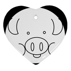 Pig Logo Ornament (heart) by Simbadda