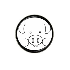 Pig Logo Hat Clip Ball Marker (4 Pack) by Simbadda