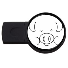Pig Logo Usb Flash Drive Round (4 Gb) by Simbadda