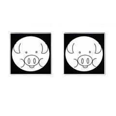 Pig Logo Cufflinks (Square) by Simbadda
