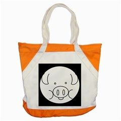 Pig Logo Accent Tote Bag by Simbadda