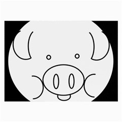 Pig Logo Large Glasses Cloth (2 Side) by Simbadda