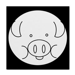 Pig Logo Face Towel by Simbadda