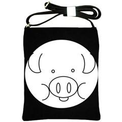 Pig Logo Shoulder Sling Bags by Simbadda