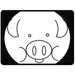 Pig Logo Fleece Blanket (large)  by Simbadda