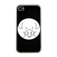 Pig Logo Apple Iphone 4 Case (clear) by Simbadda