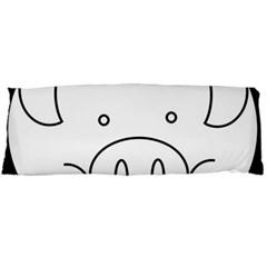 Pig Logo Body Pillow Case Dakimakura (two Sides) by Simbadda