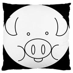 Pig Logo Large Cushion Case (two Sides) by Simbadda