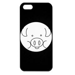 Pig Logo Apple Iphone 5 Seamless Case (black) by Simbadda