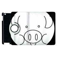 Pig Logo Apple Ipad 3/4 Flip 360 Case by Simbadda