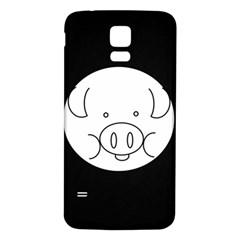 Pig Logo Samsung Galaxy S5 Back Case (white) by Simbadda