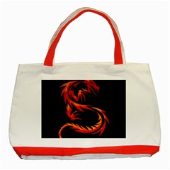Dragon Classic Tote Bag (red) by Simbadda