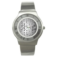 Science Formulas Stainless Steel Watch by Simbadda