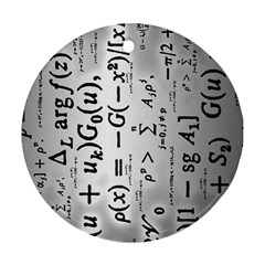 Science Formulas Round Ornament (two Sides) by Simbadda