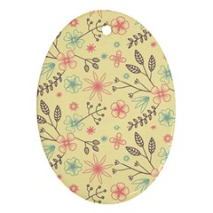 Seamless Spring Flowers Patterns Ornament (oval) by TastefulDesigns