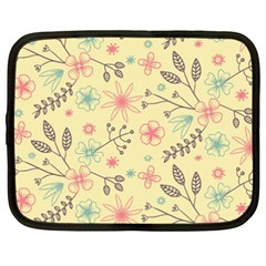 Seamless Spring Flowers Patterns Netbook Case (xxl)  by TastefulDesigns