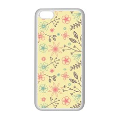 Seamless Spring Flowers Patterns Apple Iphone 5c Seamless Case (white) by TastefulDesigns