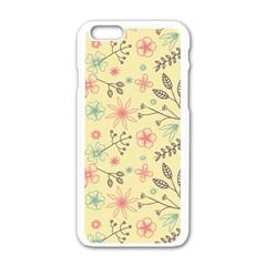 Seamless Spring Flowers Patterns Apple Iphone 6/6s White Enamel Case by TastefulDesigns