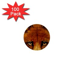 Fox 1  Mini Buttons (100 Pack)  by Simbadda