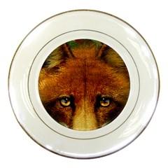 Fox Porcelain Plates by Simbadda