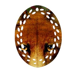 Fox Ornament (oval Filigree) by Simbadda