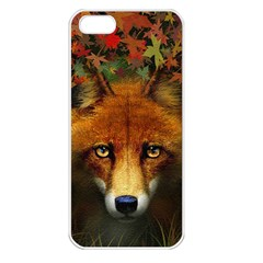 Fox Apple Iphone 5 Seamless Case (white) by Simbadda