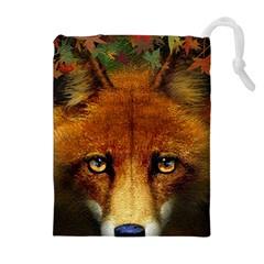 Fox Drawstring Pouches (extra Large) by Simbadda