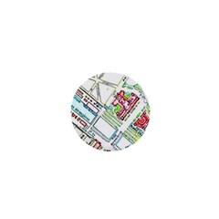 Paris Map 1  Mini Buttons by Simbadda
