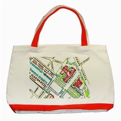 Paris Map Classic Tote Bag (red) by Simbadda