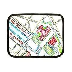 Paris Map Netbook Case (small)  by Simbadda