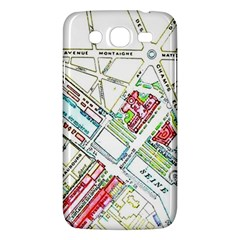Paris Map Samsung Galaxy Mega 5 8 I9152 Hardshell Case  by Simbadda