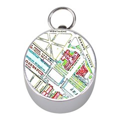 Paris Map Mini Silver Compasses by Simbadda