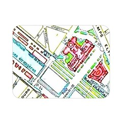 Paris Map Double Sided Flano Blanket (mini)  by Simbadda