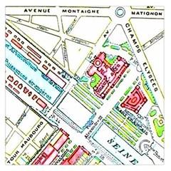 Paris Map Large Satin Scarf (square) by Simbadda
