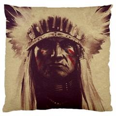 Indian Large Flano Cushion Case (one Side) by Simbadda