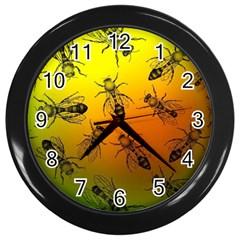 Insect Pattern Wall Clocks (black) by Simbadda
