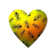 Insect Pattern Heart Magnet by Simbadda