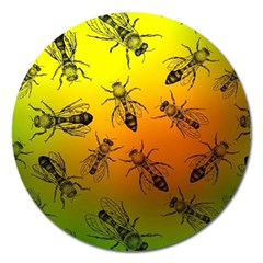 Insect Pattern Magnet 5  (round)