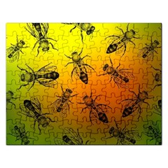 Insect Pattern Rectangular Jigsaw Puzzl by Simbadda
