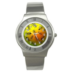 Insect Pattern Stainless Steel Watch by Simbadda