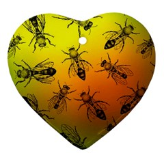 Insect Pattern Heart Ornament (two Sides) by Simbadda