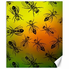 Insect Pattern Canvas 20  X 24   by Simbadda