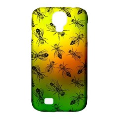 Insect Pattern Samsung Galaxy S4 Classic Hardshell Case (pc+silicone) by Simbadda