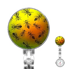 Insect Pattern Stainless Steel Nurses Watch by Simbadda