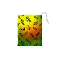 Insect Pattern Drawstring Pouches (xs)  by Simbadda
