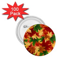 Autumn Leaves 1 75  Buttons (100 Pack)  by Simbadda
