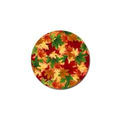 Autumn Leaves Golf Ball Marker (10 Pack) by Simbadda