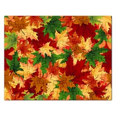 Autumn Leaves Rectangular Jigsaw Puzzl by Simbadda