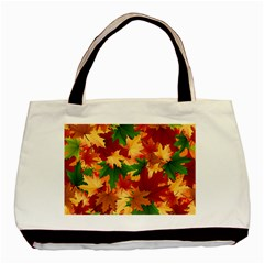 Autumn Leaves Basic Tote Bag (two Sides) by Simbadda